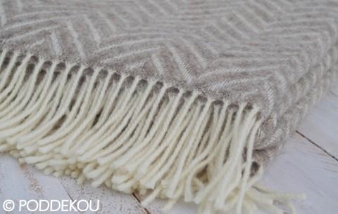Béžová deka / prehoz rybia kosť