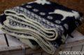 Vlnená deka so severským vzorom – čierna