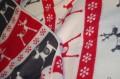 vianočná deka so sobmi
