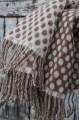 Alpaková deka bielo-hnedá so strapcami