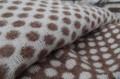Luxusná alpaková deka bielo-hnedá