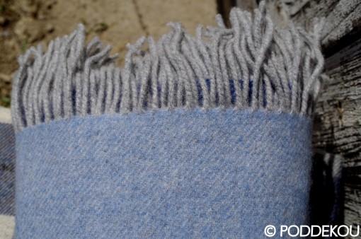 luxusná deka modrá