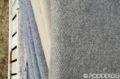 Elegantná vlnená deka - sivá