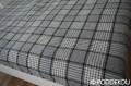 Elegantný tartan prehoz sivo-čierny