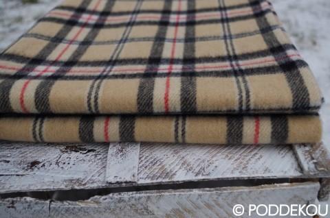 Károvaná deka svetlo hnedá