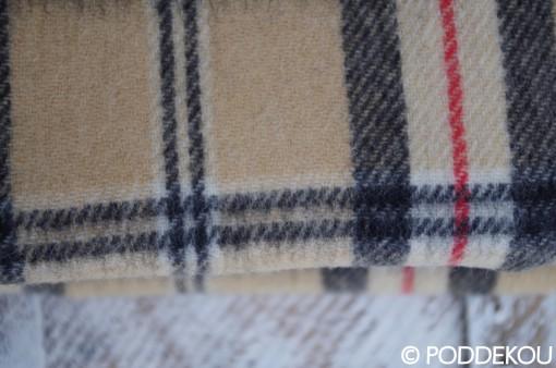 Károvaná deka béžová burberry štýl