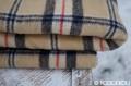 Tartanová deka béžová