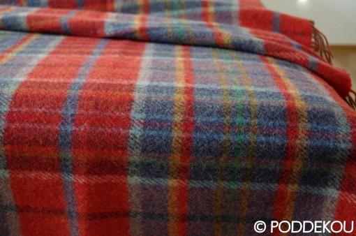 Károvaná deka viacfarebná