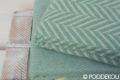vlnené deky v pastelovo zelenej farbe