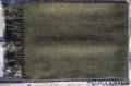 Unisex vlnený zelený šál so strapcami