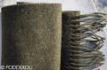 Detail elegantného zeleného šálu so strapcami