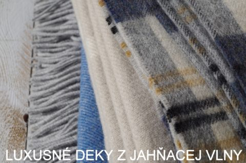 luxusné deky z jahňacej vlny