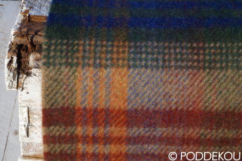 Tartanový vlnený šál zo 100% prírodných materiálov viacfarebný