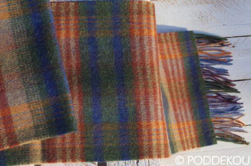 Tartanový vlnený šál - viacfarebný šál pánsky, dámsky, unisex