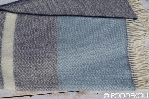 Deka prúhovaná námornícky štýl sivo-modrá