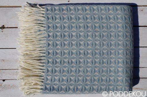 Kvalitná deka z ovčej vlny, prikrývka z ovčej vlny svetlo modrá, pléd z ovčej vlny pastelovo modrý, prehoz na posteľ,