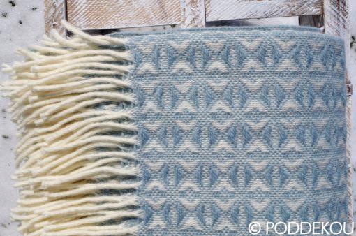 Moderná deka pastelovo modrá so zaujímavým vzorom