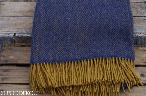 Deka so vzorom rybia kosť, Modrá deka, Horčicová deka, Okrová deka, Modro-horčicová deka, Okrovo-modrá deka, Herringbone vzor deka, deka z merino vlny a kašmíru, Vlnená deka modrá, Modrý prehoz, Modrá prikrývka, Kašmírová deka, Kašmírová deka modrá, Tmavomodrá deka, Modrý prehoz z merino vlny a kašmíru