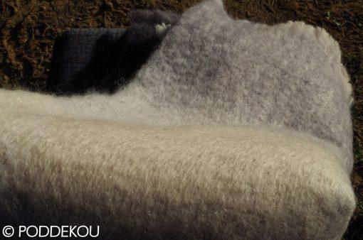 Kvalitná deka z merino vlny 100% prírodný materiál béžová slonová kosť sivá svetlosivá kockovaná elegantná deka