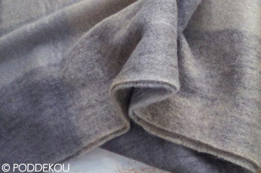 Luxusná vlnená deka z merino vlny s kockovaným vzorom béžovo sivá