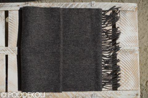 Vlnený šál jednofarebný - antracit sivý