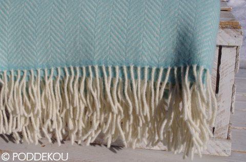 Merino kašmírová deka - svetlo modrá