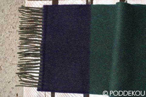 Vlnený šál - tmavo zelený