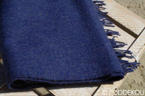 Vlnený šál jednofarebný - modrý