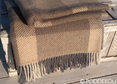 Merino kašmírová deka - béžovo-hnedá